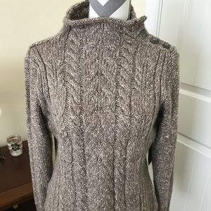 Brown Marled turtleneck sweater